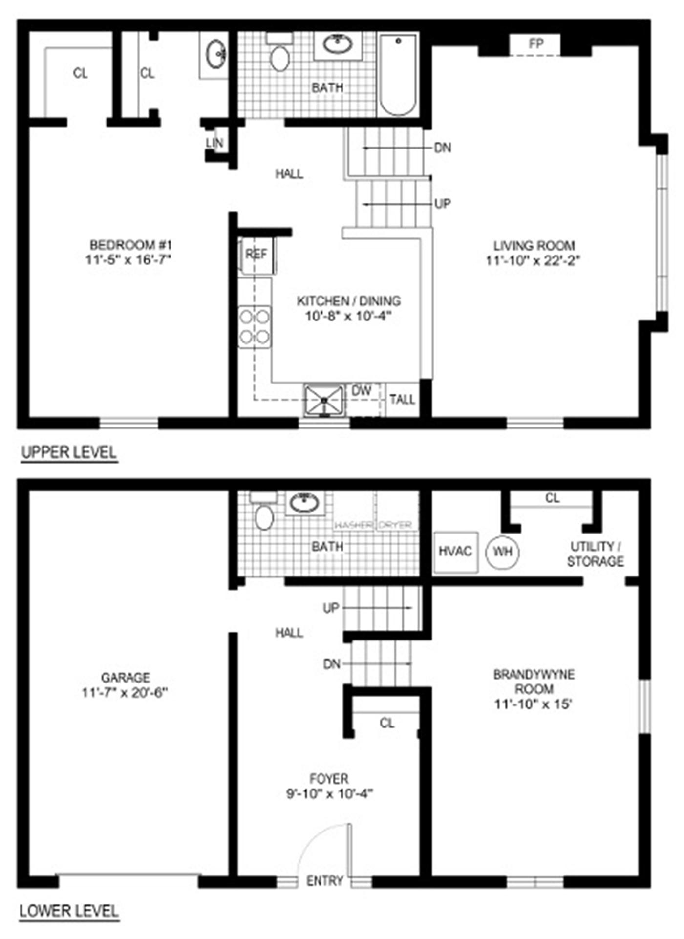 Planes Foyer Split - House Plans ()